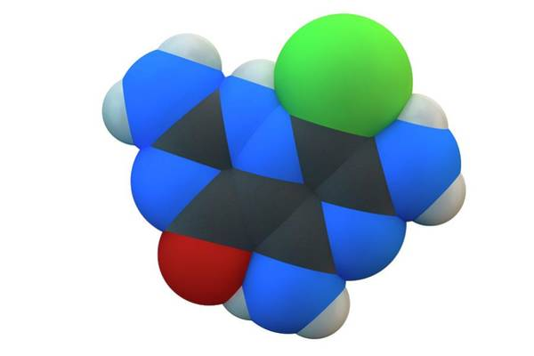 Molecular Wall Art - Photograph - Amiloride Diuretic Drug Molecule by Ella Maru Studio / Science Photo Library
