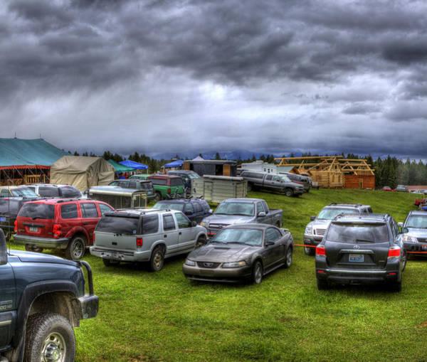 Photograph - Amish Auction Montana 2012 by Lee Santa