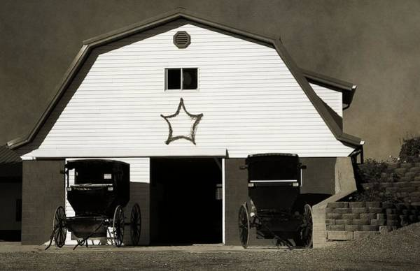 Wall Art - Photograph - Amish Barn And Buggies by Dan Sproul