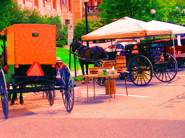 Amish Country Digital Art - Amish Market. by Joseph Wiegand