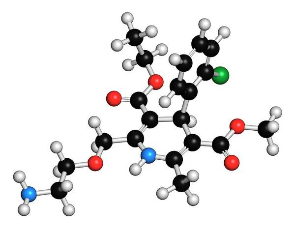 Pressure Wall Art - Photograph - Amlodipine Hypertension Drug Molecule by Molekuul