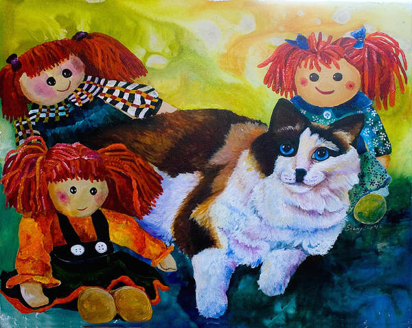 Painting - Among Friends by Sherry Shipley