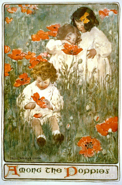 Wall Art - Photograph - Among The Poppies 1904 by Padre Art