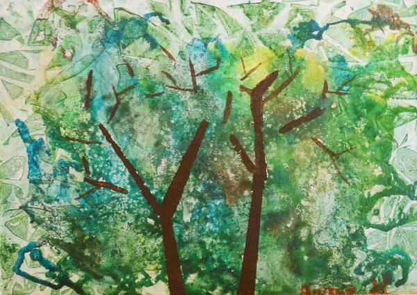 Painting - Among The Trees by Pam Halliburton