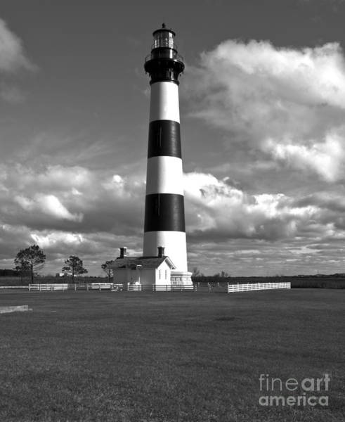 Roanoke Marshes Light Wall Art - Photograph - Among The Clouds by Debra Johnson