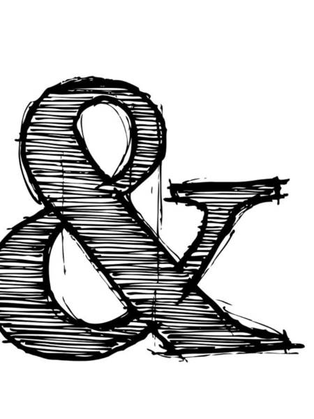 Funny Digital Art - Ampersand Poster 1 by Naxart Studio