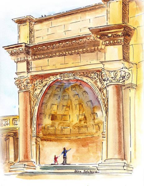 Golden Gate Painting - Amphitheater In Golden Gate Park San Francisco  by Irina Sztukowski