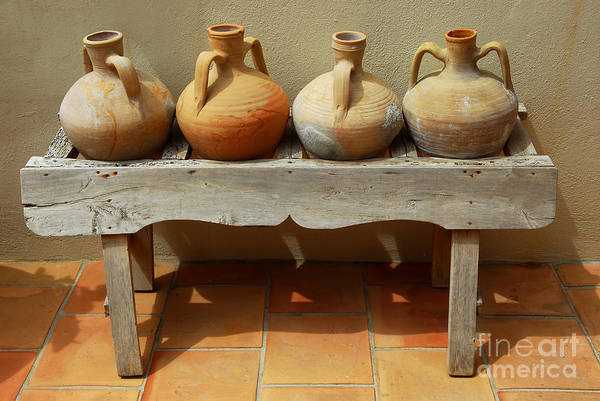 Clay Pot Photograph - Amphoras  by Elena Elisseeva