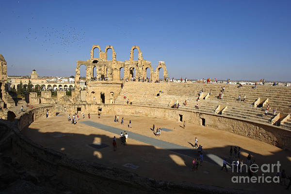 El Jem Photograph - Ampitheatre by Premierlight Images