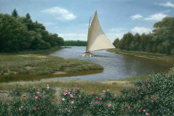 Cape Cod Painting - Amrita Island Sail - Cape Cod by Julia O'Malley-Keyes