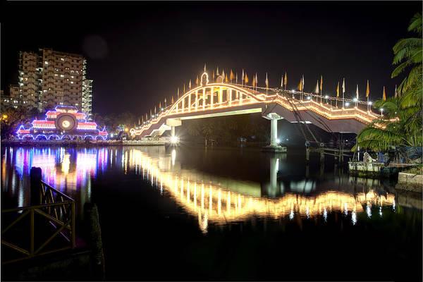 Amritapuri Photograph - Amritasetu Lights by Sonny Marcyan
