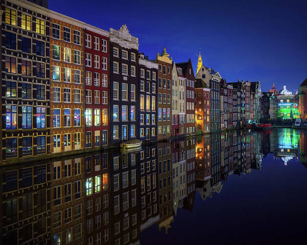 Old Bridge Photograph - Amsterdam At Night 2017 by Juan Pablo De