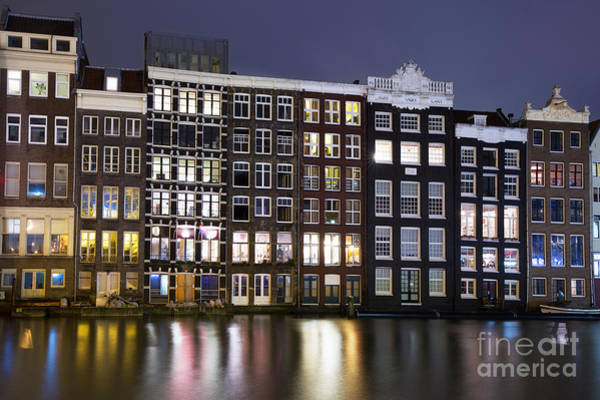 Wall Art - Photograph - Amsterdam At Night by Jane Rix