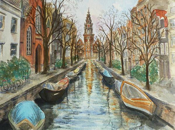 Amsterdam Painting - Amsterdam by Henrieta Maneva