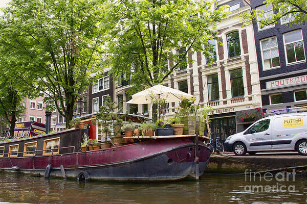 Photograph - Amsterdam Houseboat by Crystal Nederman