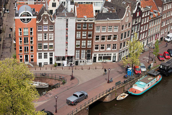 Prinsengracht Photograph - Amsterdam Houses From Above by Artur Bogacki