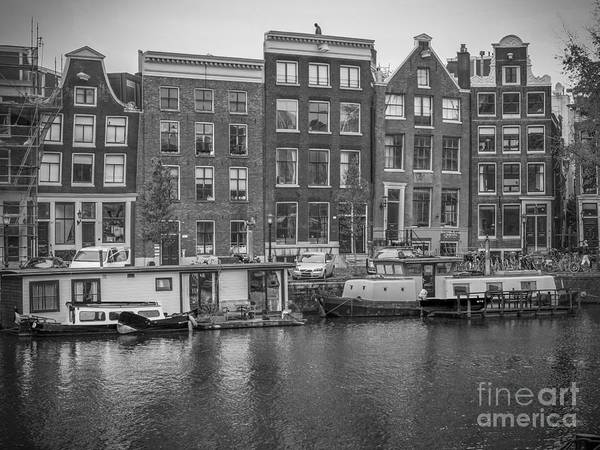 Crooked River Photograph - Amsterdam In Black And White by Patricia Hofmeester