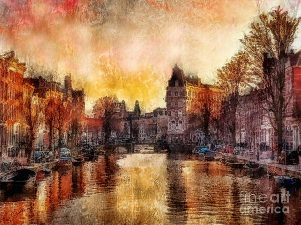 Amsterdam Painting - Amsterdam by Mo T