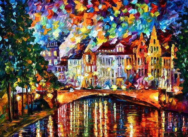 Amsterdam Painting - Amsterdam New by Leonid Afremov