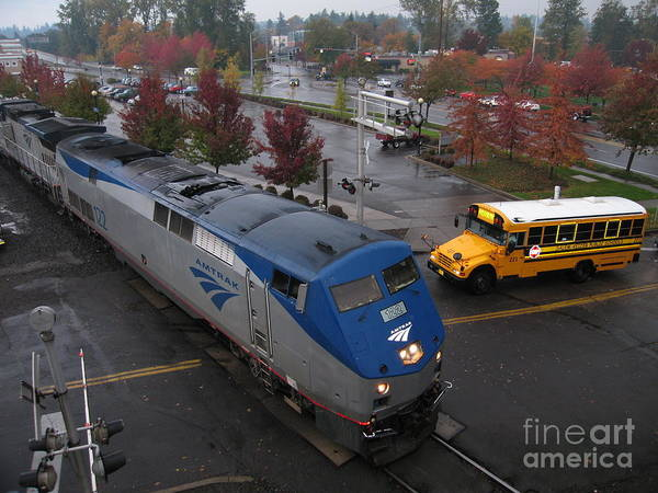 Photograph - Amtrak 122 In Salem by James B Toy