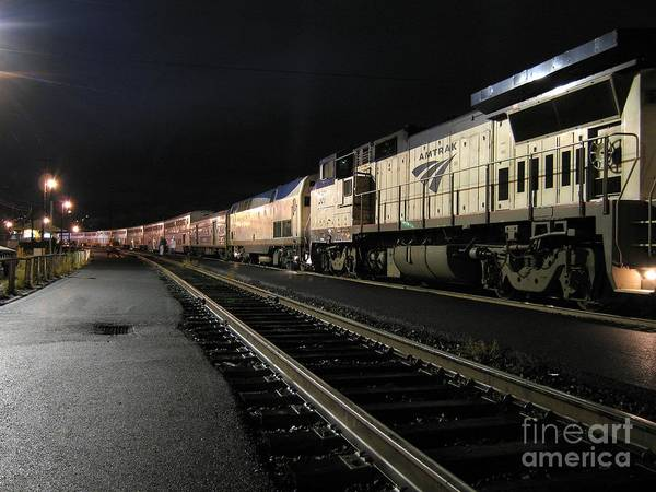 Photograph - Amtrak 507 At Klamath Falls by James B Toy