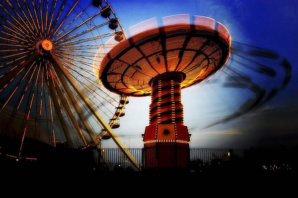 Photograph - Amuse Me - Navy Pier In Chicago by Mark E Tisdale