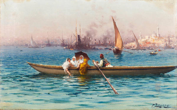 Fausto Zonaro Painting - Amusement On The Caique by Fausto Zonaro