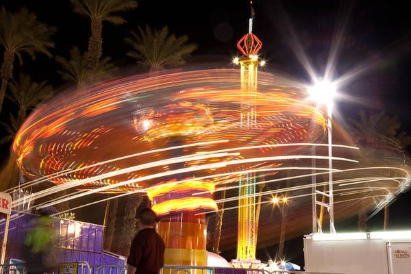 Shutter Speed Photograph - Amusement Park Ride Swirls  by Matthew Bamberg