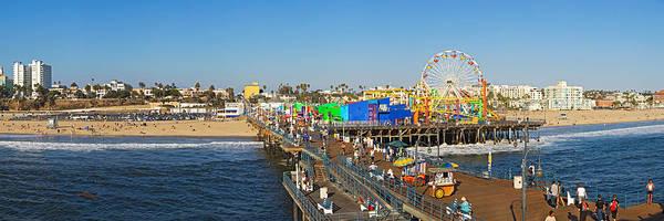 Santa Monica Pier Photograph - Amusement Park, Santa Monica Pier by Panoramic Images