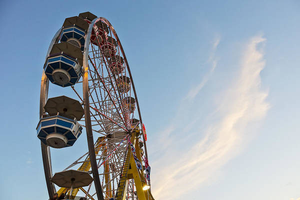 Fair Ground Photograph - Amusement Ride At Capital Ex by LJM Photo