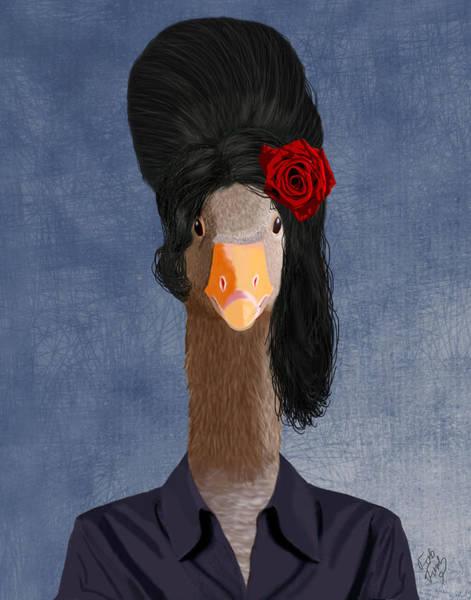 Goose Digital Art - Amy Goose by Kelly McLaughlan
