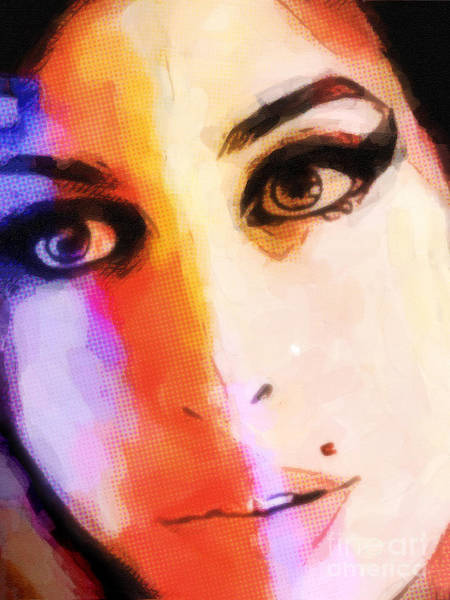 Painting - Amy Pop-art by Lutz Baar