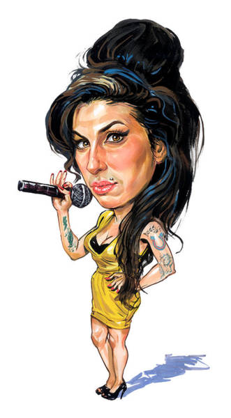 Wall Art - Painting - Amy Winehouse by Art