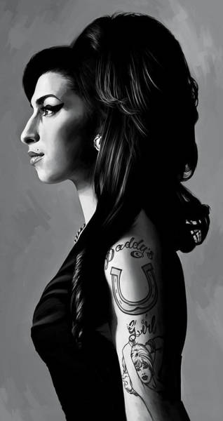 Amy Winehouse Artwork  2 Art Print by Sheraz A