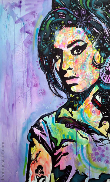 Amy Winehouse Wall Art - Painting - Amy Winehouse Original Art by Dean Russo Art