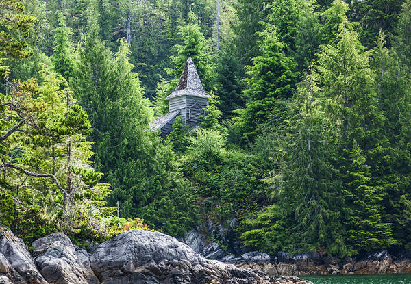Vancouver Island Photograph - An Abandoned Wood Church Surrounded By by Debra Brash / Design Pics