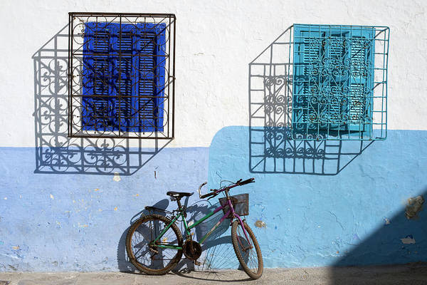 Asilah Wall Art - Photograph - An Abstract Look At Two Windows And A by Rachid Dahnoun