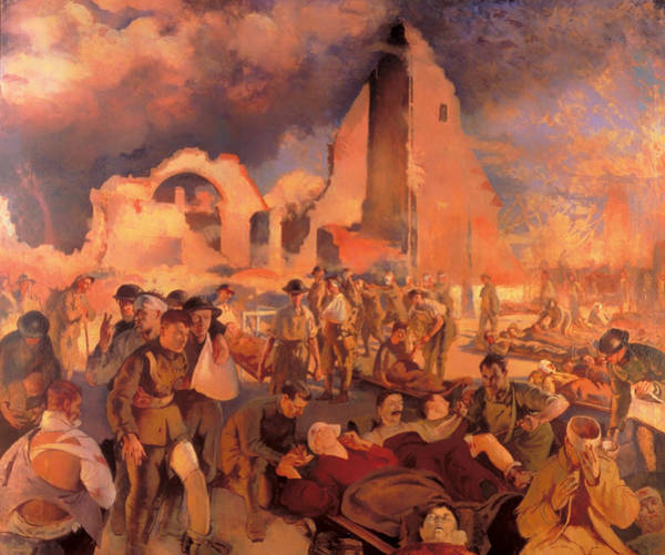 I Dream Painting - An Advanced Dressing Station In France 1918 by Mountain Dreams