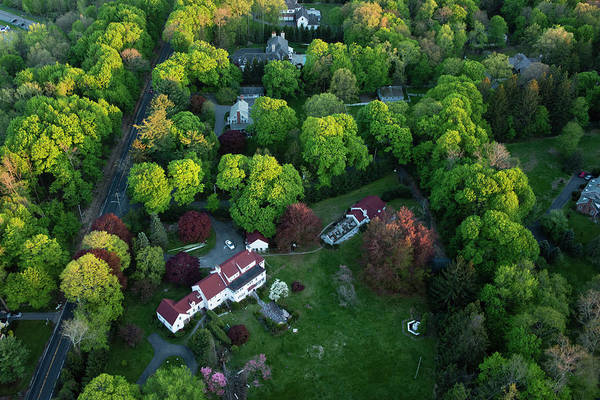 Suburbs Photograph - An Aerial View Of Suburbian Luxury by Michael H