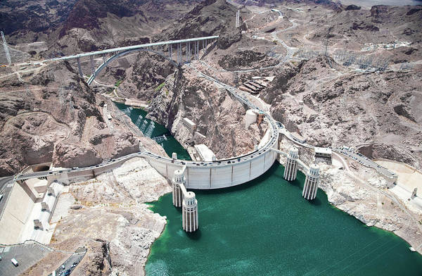 Wall Art - Photograph - An Aerial View Of The Hoover Dam by Jennifer sharp