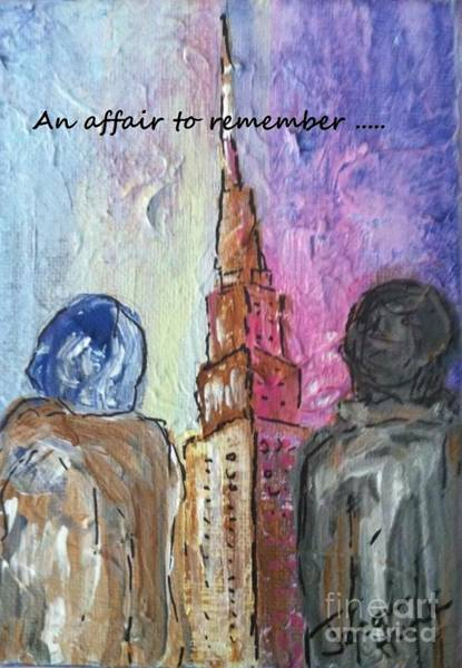 Painting - An Affair To Remember by Jacqui Hawk