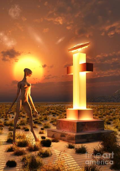 Respect Digital Art - An Alien Returning To The Famous Crash by Mark Stevenson