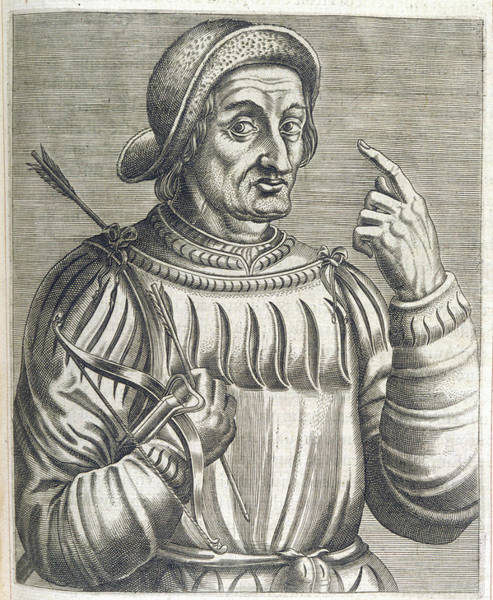 Folklore Drawing - An Alleged Portrait Of William Tell by Mary Evans Picture Library