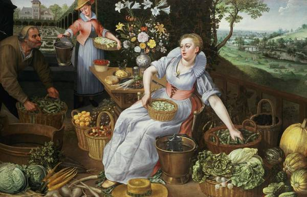 Cabbage Photograph - An Allegory Of Summer by Lucas van Valckenborch