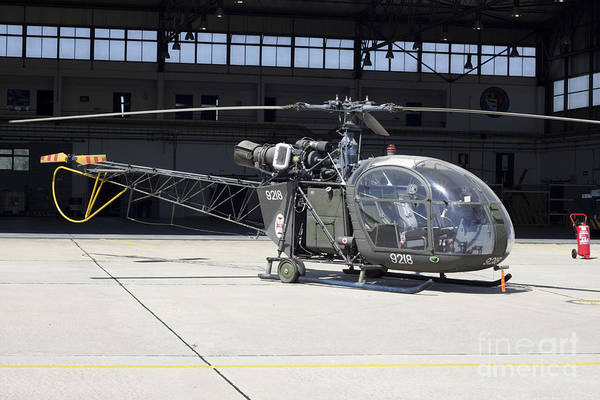 Alouette Wall Art - Photograph - An Alouette II Helicopter by Timm Ziegenthaler