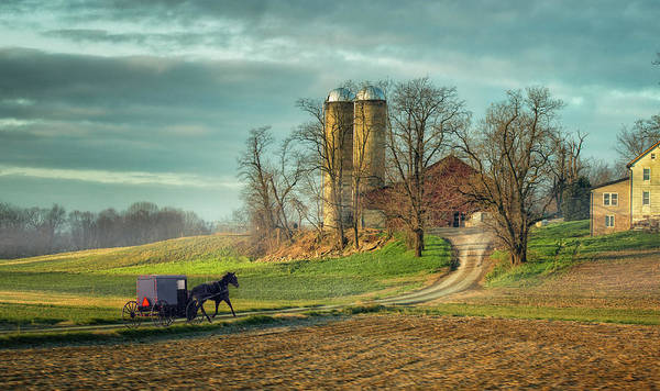 Lancaster County Photograph - An Amish Country Morning by Betty Wiley