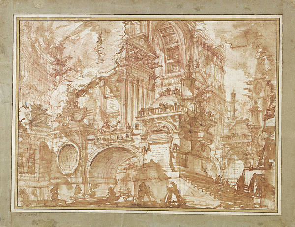 Wall Art - Drawing - An Ancient Port Giovanni Battista Piranesi by Litz Collection
