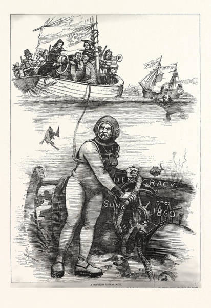 Early American History Drawing - An Ancient Wreck by American School