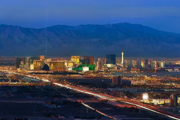 Photograph - An Animated Las Vegas Skyline by Mark Whitt