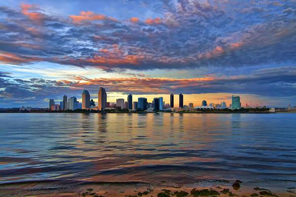 Photograph - An Animated San Diego Skyline by Mark Whitt